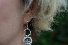 boucles d'oreille en porcelaine