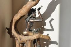 Esprit de la Nature (bronze et bois flotté)