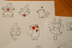 croquis collection funny cat