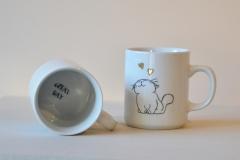 mug funny cat décor à l'or pur (3)