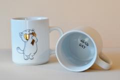 mug funny cat décor à l'or pur (6)