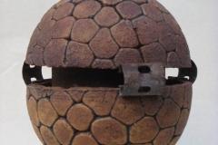 Talisman Toltèque (oxyde sur grès & métal)